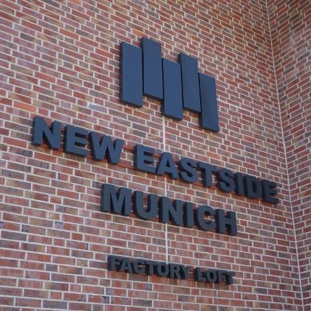Orientierungssystem New Eastside Munich